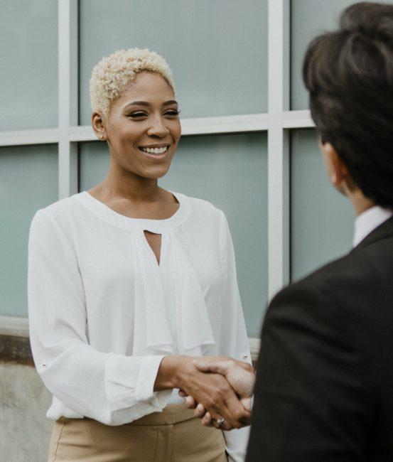 Corporate business handshake